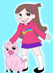 Mabel Pines and Waddles