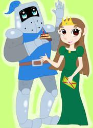Sir Steve and Princess Blair for EarthVStheDerek