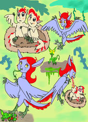 Archaeopteryx Harpy sketches