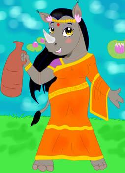 Lady Indian Rhino
