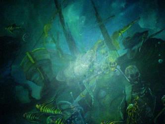 A.J Godden Underwater by FaerieFaith