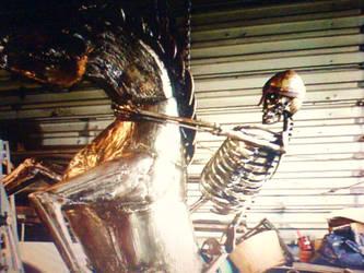 Horse, skeleton knight
