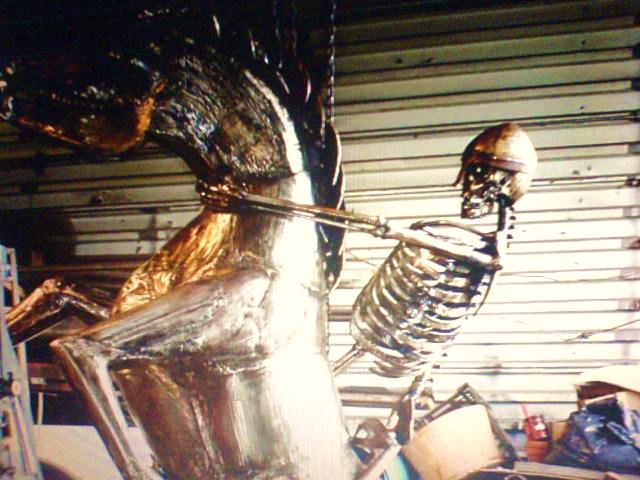 Horse, skeleton knight by FaerieFaith