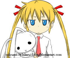 Girl with bunny by hikaru123qq