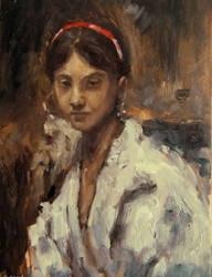 Head of a Capri girl Sargent Study by aleksandrauzarek