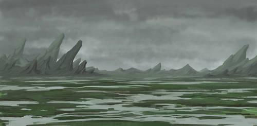 Grey Swamp Landscape