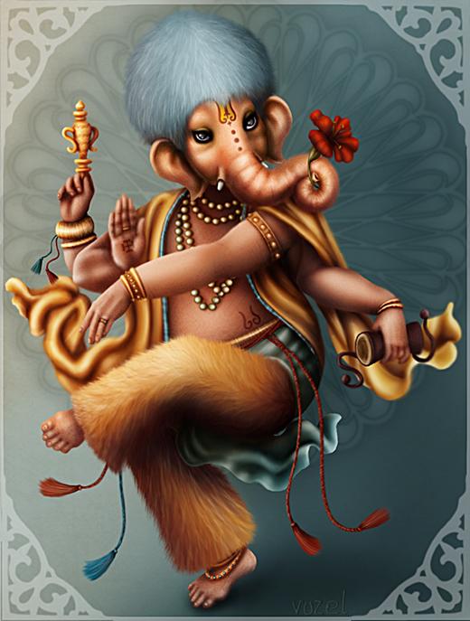 dancing Ganesha by vuzel