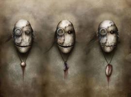 3 wise monkeys by vuzel