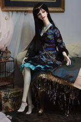 Midnight Lotus Dress Set