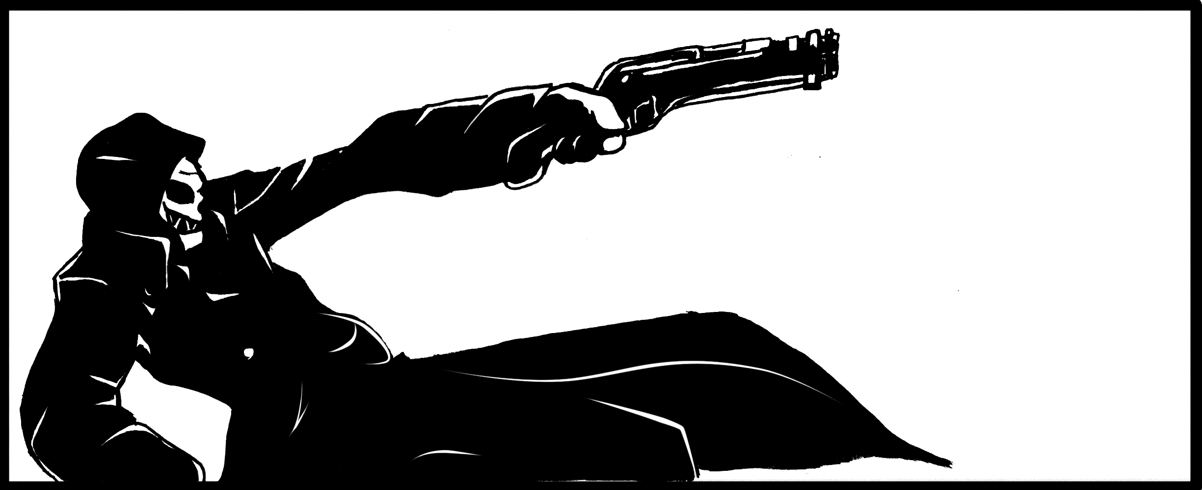 Corvo attano Dishonored (Ink) by linktsubasa