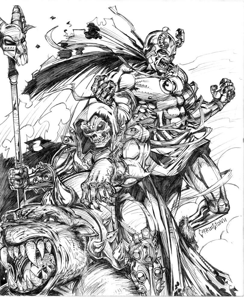 Skeletor teams up wit Mumra by NigelCarrington