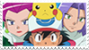 Ash and Team Rocket stamp by SkippyArt