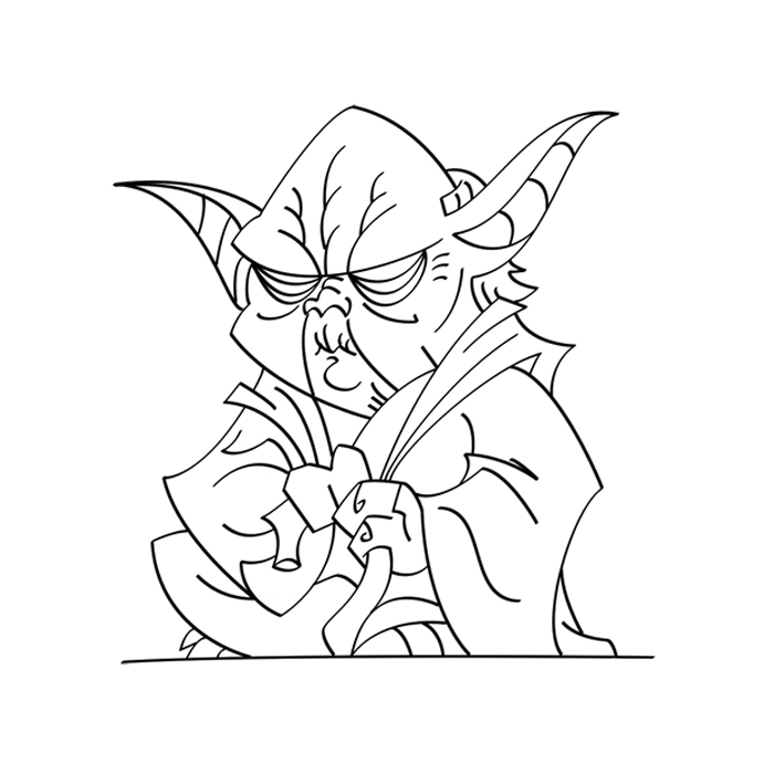 Line Drawing Yoda : Yoda line drawing related keywords suggestions