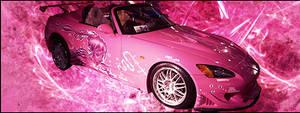 Pink car signature