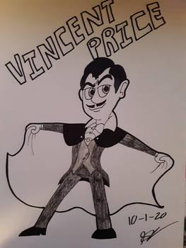 Drawtober Day 1 Vincent Price