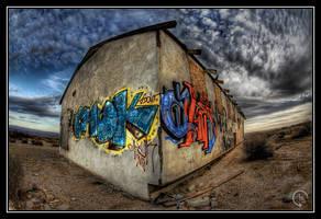 Desert Graffiti by woodsac
