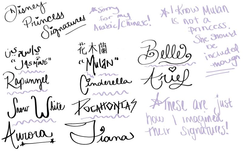 Disney World Autographs