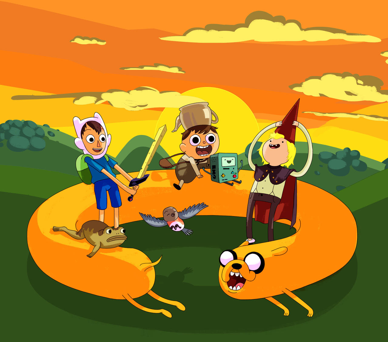 Adventure Time Over The Garden Wall Mashup By Yasada On Deviantart