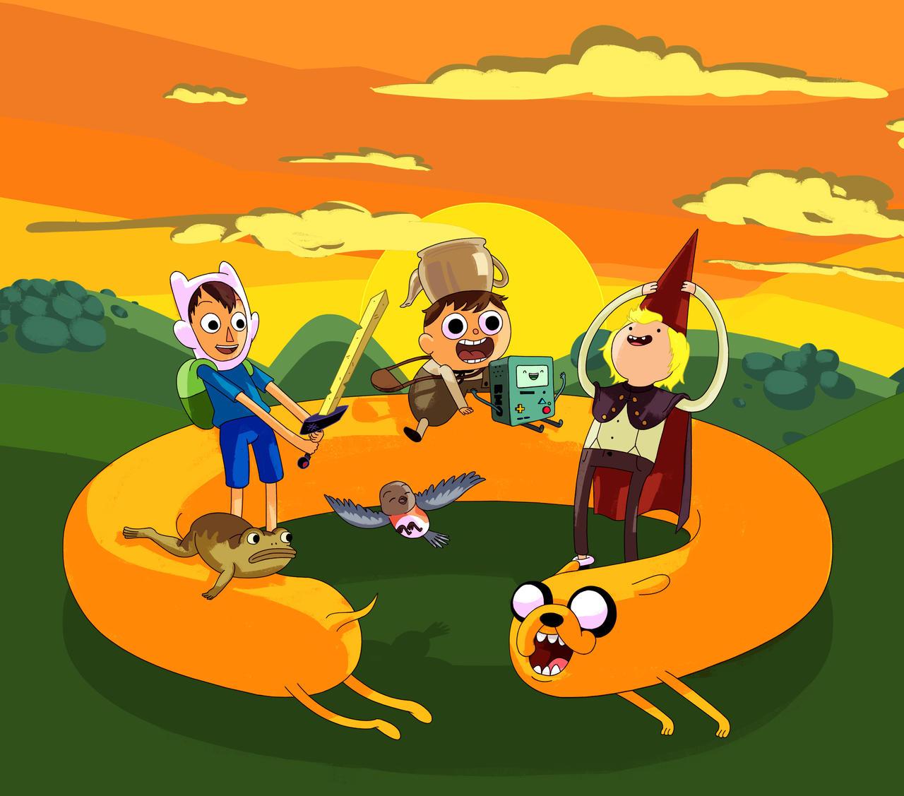 Adventure Time Over The Garden Wall Mashup By Yasada On Deviantart