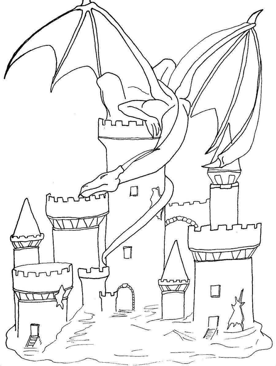 Dragon Castle Tattoo Designs
