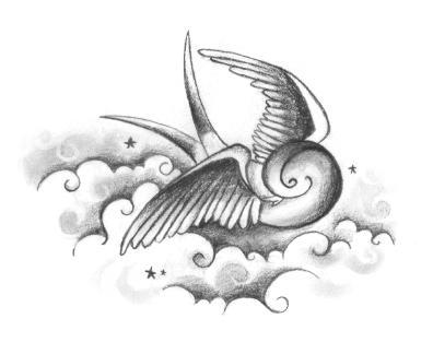 Swallow tattoo by fourletterlie on deviantart for Swallow art tattoo