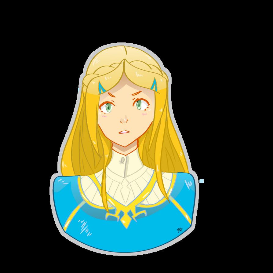 Breath of the Wild: Zelda by Tetra1090