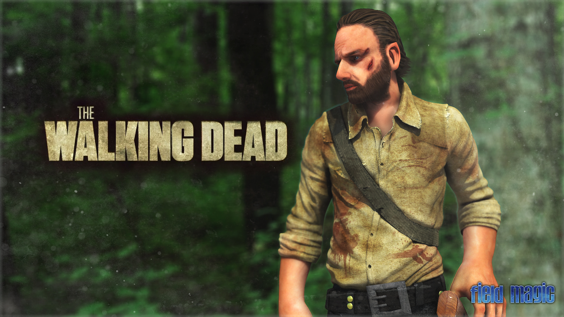 Rick Grimes From The Walking Dead Render By Bryanfield
