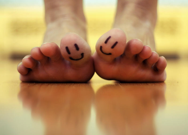 You make my toes smile