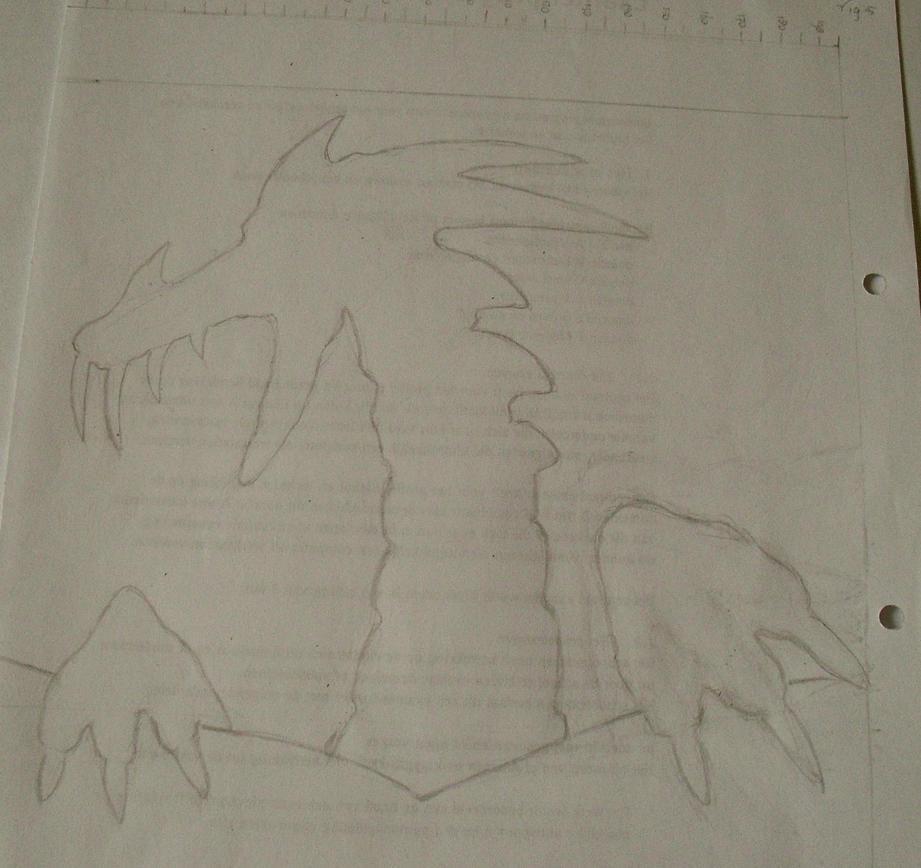 Dragon sketch by schaduwlichtje