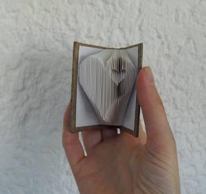 Miniature 'heart' folded book