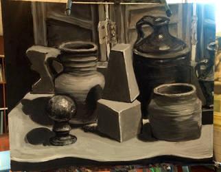 Black and White study by DarkHorse918