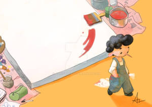 The boy and the Canvas