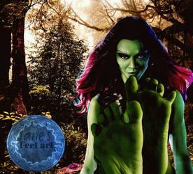 Marvel feet colection: Gamora by JanesFeetArt