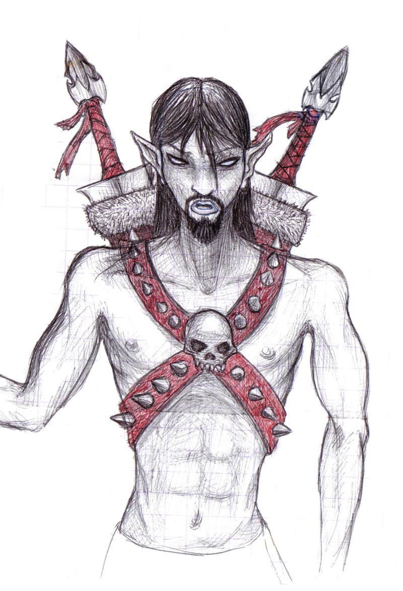 The Dark Elf Warrior by TheNeoShaman