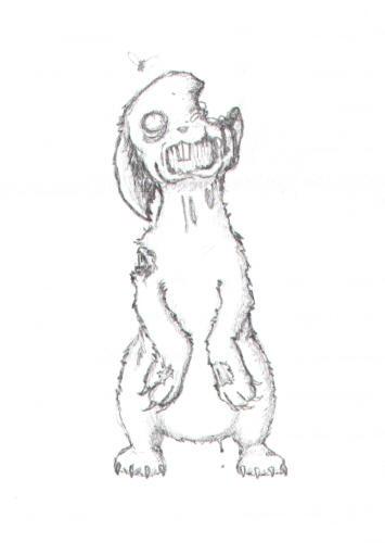 Zombie Rabbit by HazyDelirium