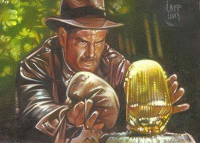 Indiana Jones 2 - Sketch Card by JeffLafferty