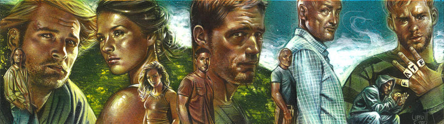 Lost - Quintuple Sketch Card by JeffLafferty