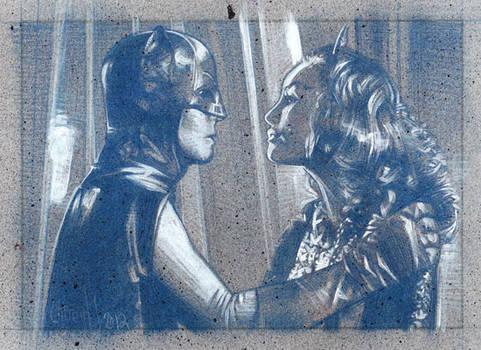 Batman and Catwoman - Pencil Study