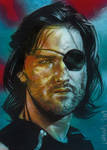 Kurt Russell As Snake Plissken Sketch card