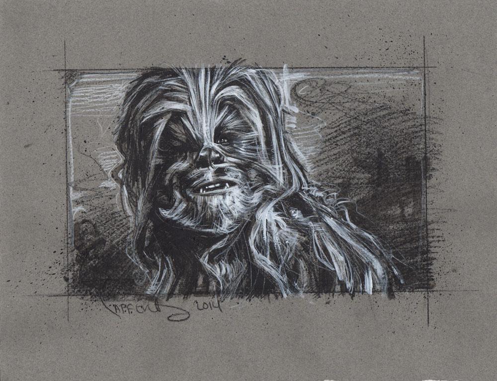 Chewbacca Drawing by JeffLafferty