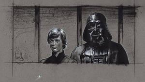 Darth Vader. Luke skywalker