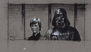 Darth Vader. Luke skywalker by JeffLafferty