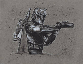 Boba Fett Drawing by JeffLafferty