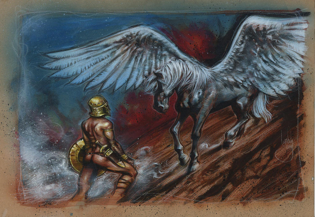 Pegasus And Bellerophon by JeffLafferty