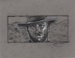 Clint Eastwood Drawing by JeffLafferty
