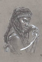 Walking Dead, Michonne by JeffLafferty