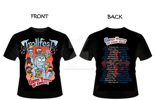Trollfest U.S. Tour T-Shirt by stuartmcghee