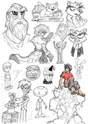SketchDump 02 by markweallans
