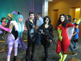 Morrigan Catwoman Domino Spiderwoman by GreekGodess07