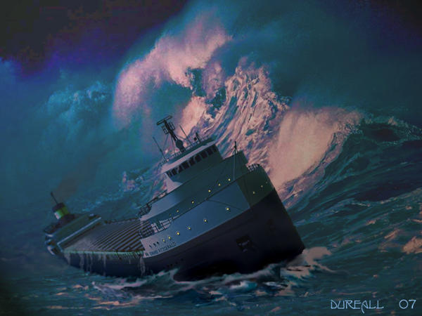November 10th, 1975. The Edmund Fitzgerald was caught by the Witch of November and sank.
